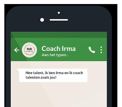 Whatsapp met een coach